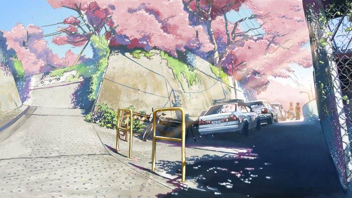 新海誠の秒速5センチメートルの坂道の壁紙