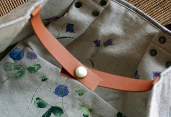 ブルー糸の入った麻のおむすびころりん_a0102486_1410489.jpg