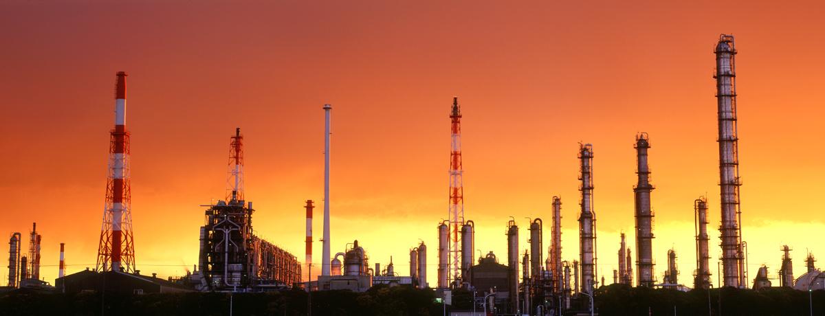 夕暮れの工場パノラマ 千葉・五井海岸 2002年11月4日_c0190190_584997.jpg