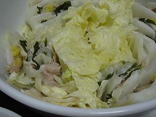 豚バラと白菜の重ね蒸しと焼き鮭_c0025217_1110155.jpg