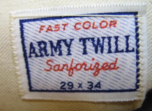 50'S ARMY TWILL BLUE BELL チノ PANTS_c0144020_167165.jpg