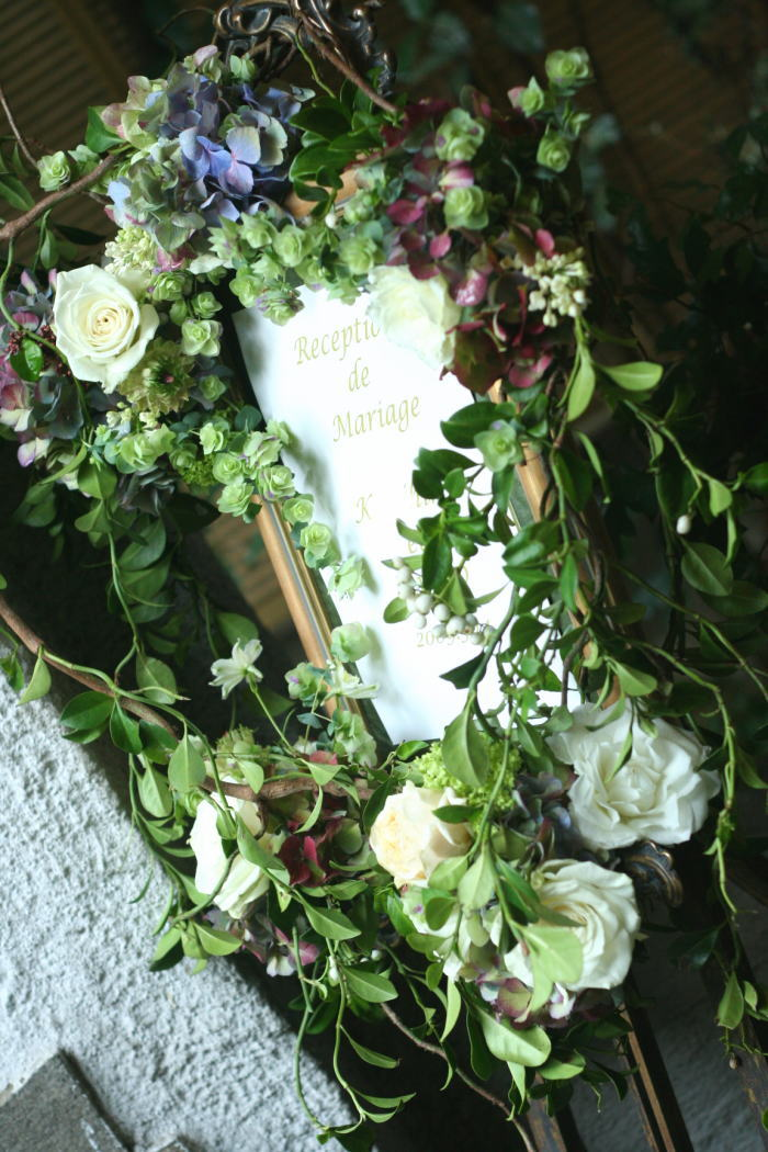 シェ松尾松濤レストラン様の装花 春の雨の日に_a0042928_19191973.jpg
