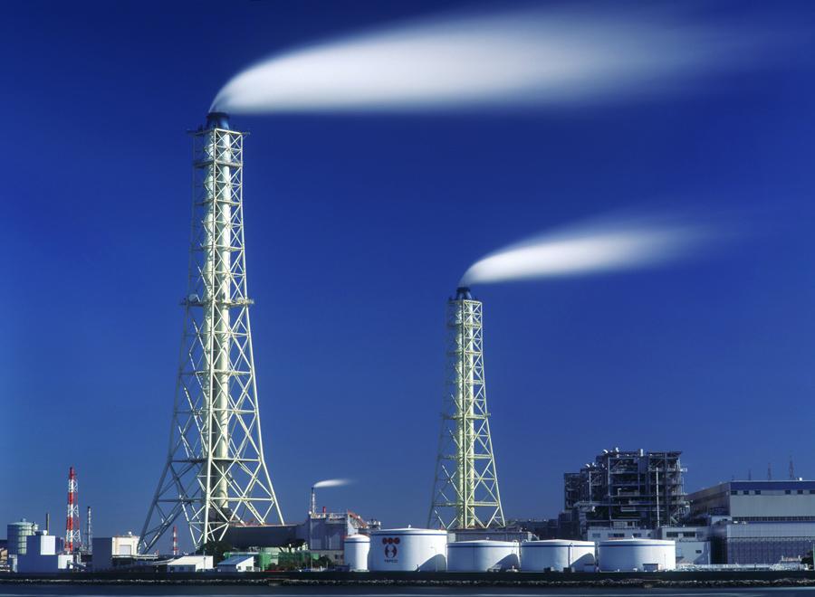火力発電所の煙突 千葉・五井海岸1999年2月28日_c0190190_4473154.jpg