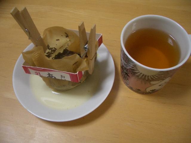 ★コーヒーフィルターでお茶は入れられる? ~お茶の始末の簡素化について~_b0163750_23213932.jpg