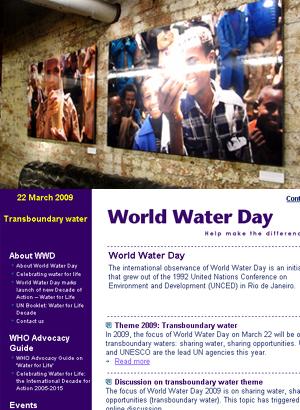 ワールド・ウォーター・デー(World Water Day) 2009 _b0007805_21524614.jpg
