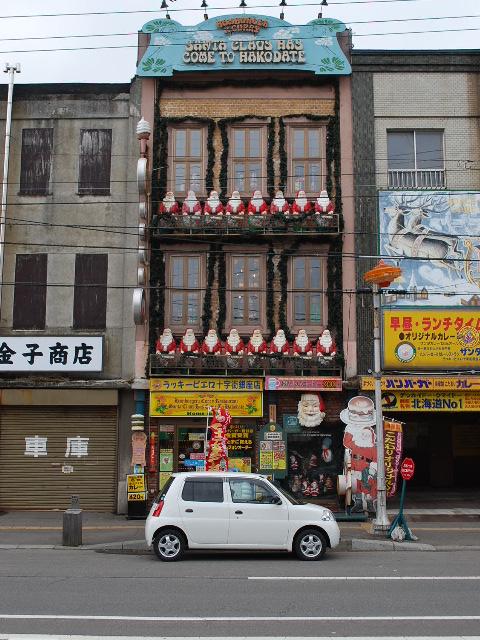 函館銀座通り・レトロ建築コレクション(その4、金子商店、旧対馬理容店)_f0142606_87629.jpg
