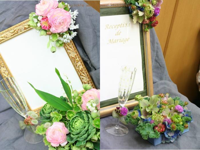 3月のレッスン リングピロー・ウェルカムボード・シャンパングラス装花 その1_a0042928_1919409.jpg