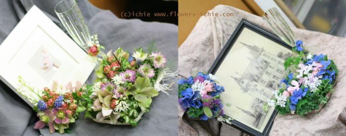 3月のレッスン リングピロー・ウェルカムボード・シャンパングラス装花 その1_a0042928_19211299.jpg