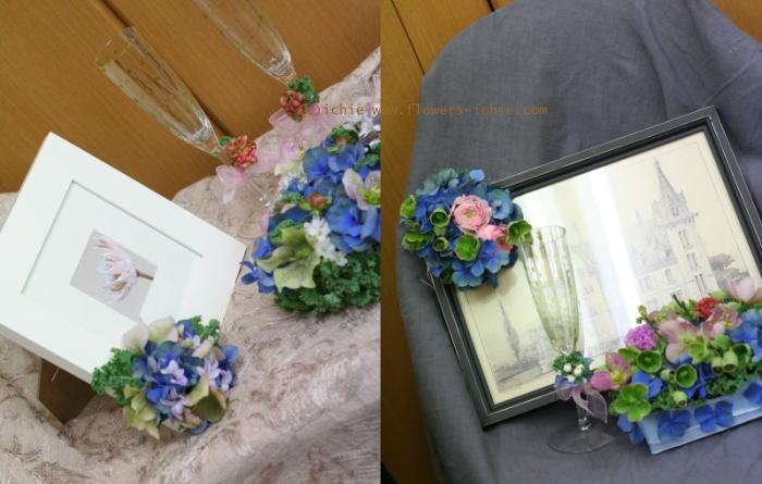 3月のレッスン リングピロー・ウェルカムボード・シャンパングラス装花 その1_a0042928_19214097.jpg