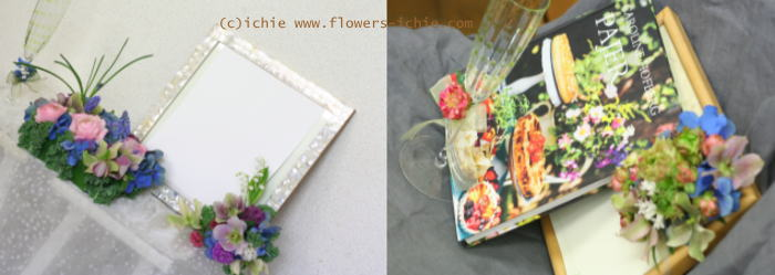 3月のレッスン リングピロー・ウェルカムボード・シャンパングラス装花 その1_a0042928_192144.jpg