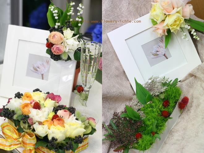 3月のレッスン リングピロー・ウェルカムボード・シャンパングラス装花 その2_a0042928_19241425.jpg