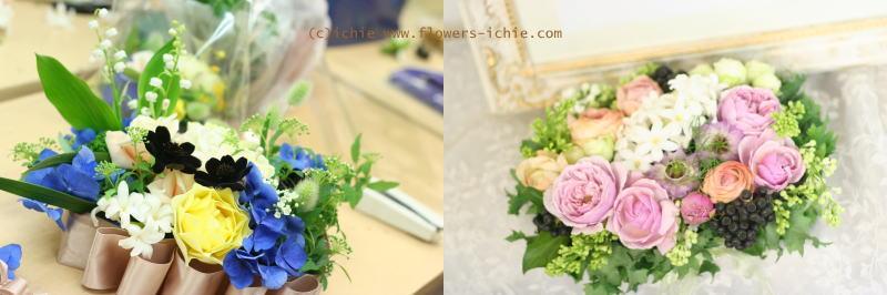 3月のレッスン リングピロー・ウェルカムボード・シャンパングラス装花 その2_a0042928_1924161.jpg