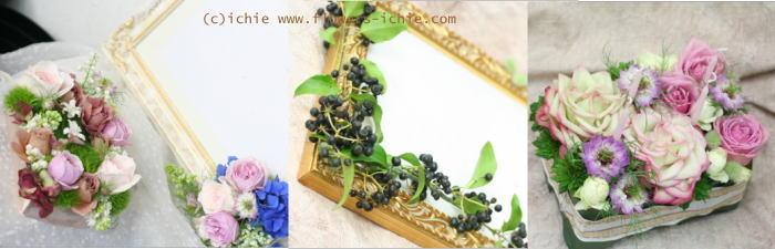 3月のレッスン リングピロー・ウェルカムボード・シャンパングラス装花 その2_a0042928_19242069.jpg