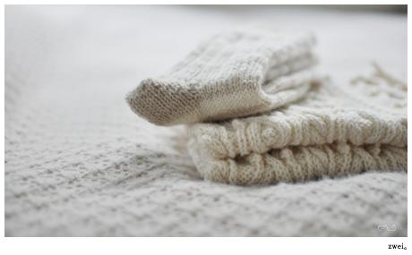 棒針の編地って好きだなぁ。