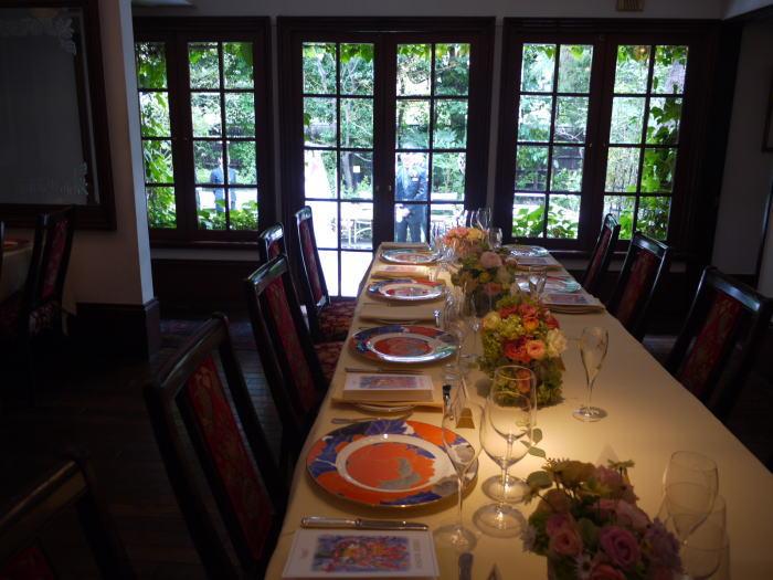 シェ松尾松濤レストラン様の装花 平日、春のはじめに_a0042928_20213350.jpg