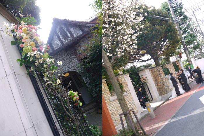 シェ松尾松濤レストラン様の装花 平日、春のはじめに_a0042928_20291395.jpg
