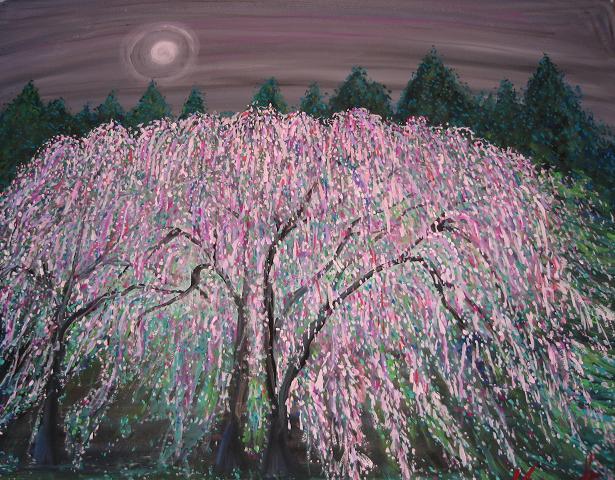 月と桜_c0186580_123467.jpg