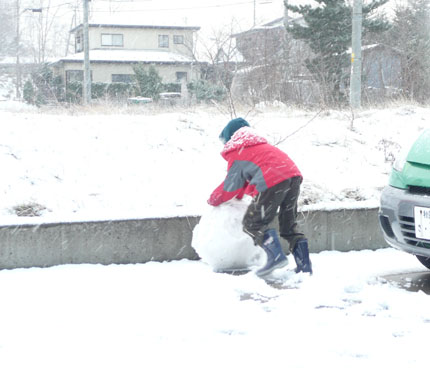 雪だるまさん!_f0150893_16555885.jpg
