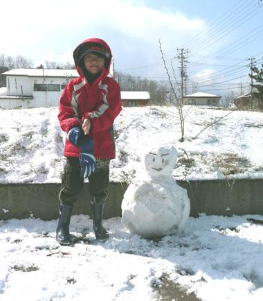 雪だるまさん!_f0150893_1656379.jpg
