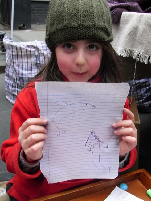 NYのストリートフェアで遭遇した小さなアーティスト_b0007805_5311949.jpg