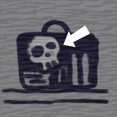 バッグの中のガイコツ