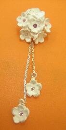 アートクレイシルバーで作りました~お花のピンブローチ~_e0095418_23254752.jpg
