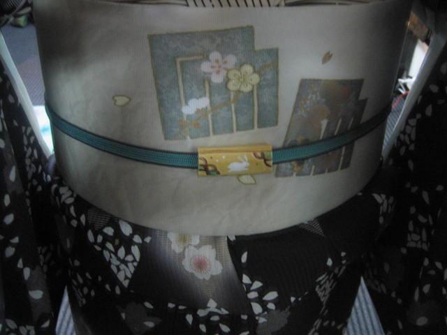 今日のコーディネイト・桜の花びらの着物と帯・その2。_f0181251_16163176.jpg