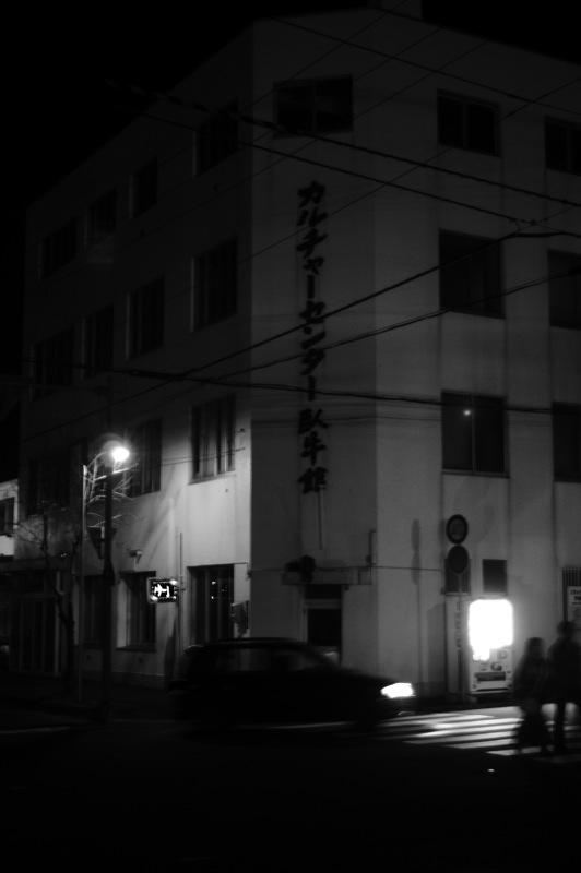十字街界隈、夜のモノクローム_f0042194_7553080.jpg