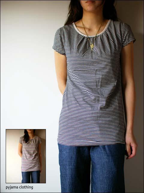 pyjama clothing [ピジャマクロージング] FRENCH PUFF STRIPE_f0051306_14372046.jpg