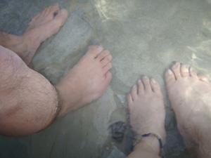3/30   足湯で休憩♪_f0164662_17595847.jpg