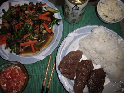 【飯】 ステーキサイコー、バトンもサイコー_b0000480_1494211.jpg