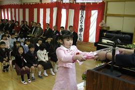 かわうち保育園卒園式_d0003224_1063421.jpg