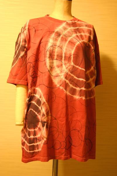 order made 152 絞り染めと手描き 男性用Tシャツ_e0104046_23465341.jpg