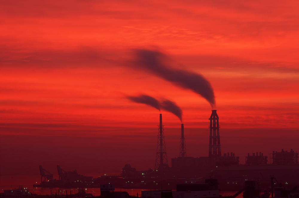 夜明けの発電所 1995年11月_c0190190_4301057.jpg