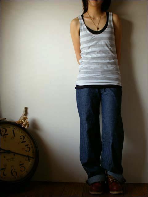 pyjama clothing [ピジャマクロージング] TANKTOP STRIPE_f0051306_13493840.jpg