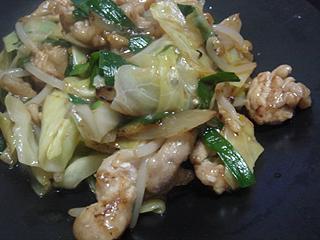 回鍋肉と中華風玉子スープ_c0025217_2217553.jpg