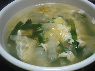 回鍋肉と中華風玉子スープ_c0025217_22182237.jpg
