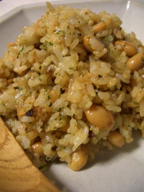 大豆と青海苔のソースめし_d0134753_1712163.jpg