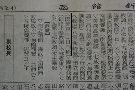 市立函館高の新校長に、東高20回生日向稔さんが赴任。_f0147468_0161969.jpg