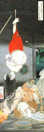 月岡芳年名品展ー新撰東錦絵と竪二枚続 @UKIYO-e TOKYO_b0044404_1674257.jpg