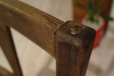 古い木の良いアジがでた本革シートチェアー完成!_a0096367_20511268.jpg