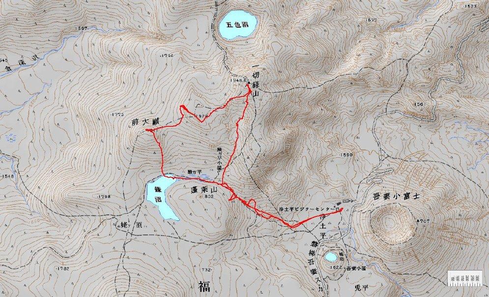 一切経山 ~ 2009年4月11日_f0170180_16212543.jpg