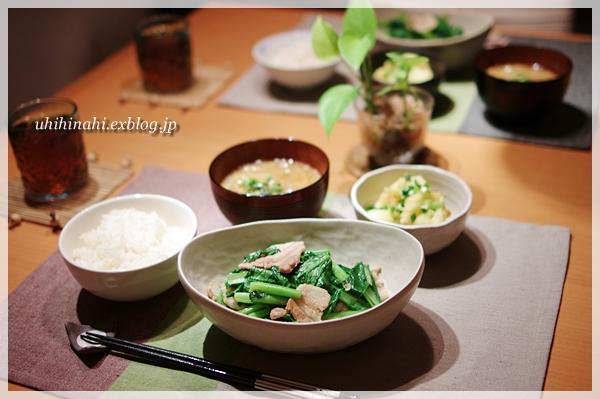 小松菜と豚バラの生姜炒め_f0179404_2347890.jpg