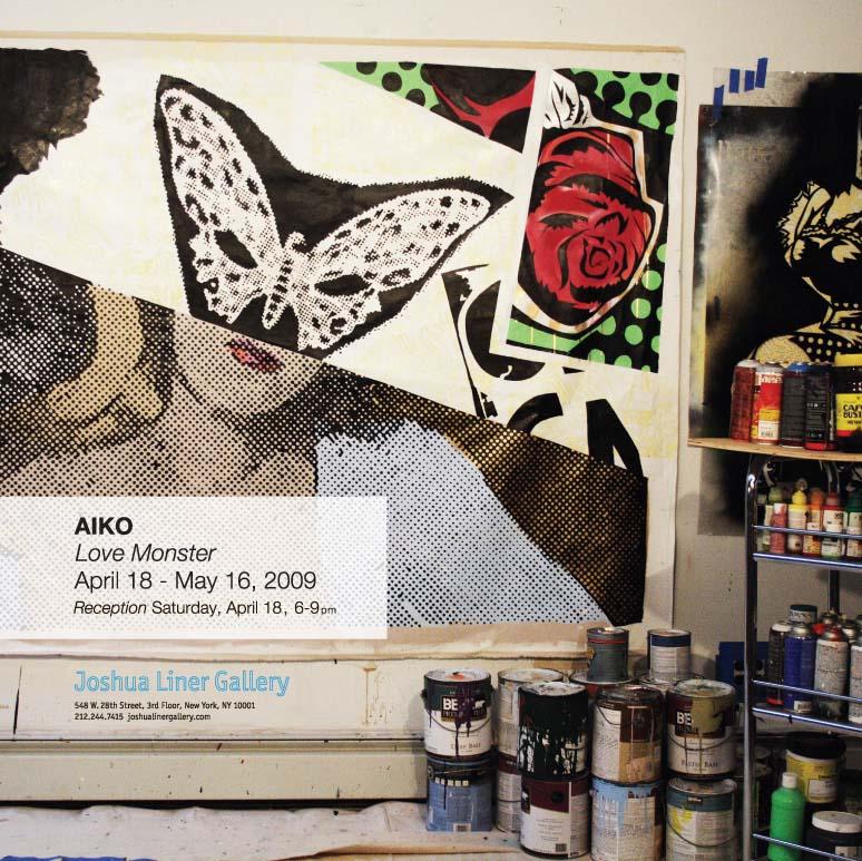 ラブモンスター、AIKOさんの個展が開催、NYの話だけどね。_a0077842_1493472.jpg
