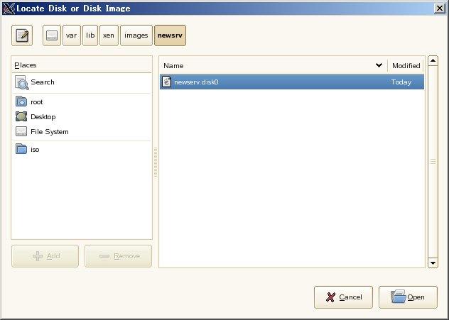 SUSE Linux (SLES10) XEN仮想マシンの移植_a0056607_16383467.jpg
