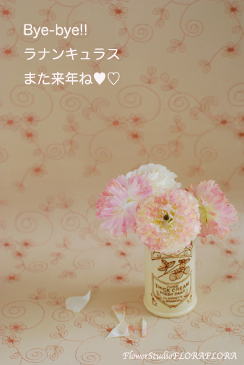 Flowers*コノ花を愛シテル* BYE-BYE! ラナンキュラス_a0115684_23375230.jpg