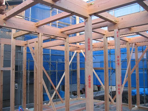 土台敷き・1階建て方_b0165417_7404252.jpg