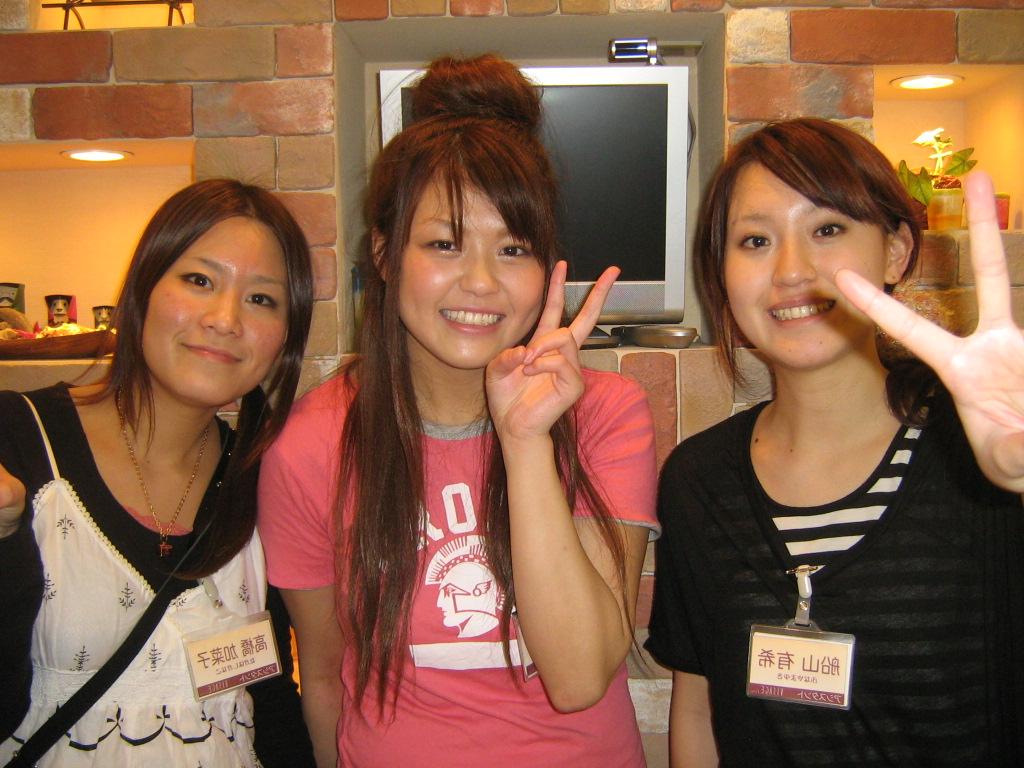 左から高橋 加菜子さん 松永 亜弓さん 船山 有希さん毎日頑張って働いて... NEWスタッフ