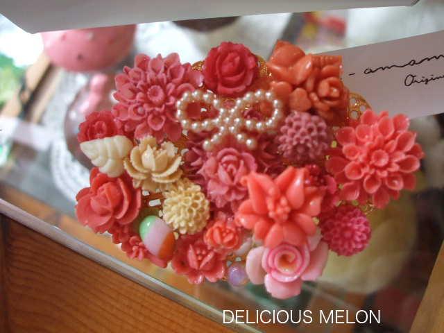 ★★★art-amamさんのお花のヴィンテージパーツを使ったアクセサリーです。_c0108789_1825342.jpg