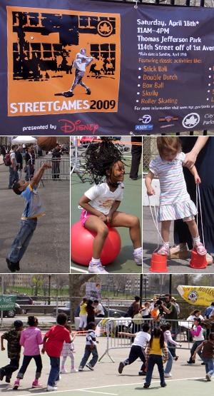 伝統的な遊びが勢ぞろい Street Games 2009_b0007805_95057.jpg